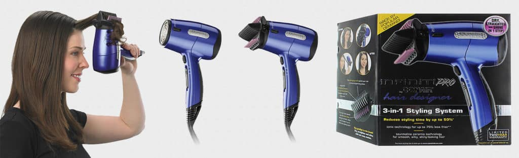 Infiniti Pro by Conair Hair Designer 3-in-1 Styling System