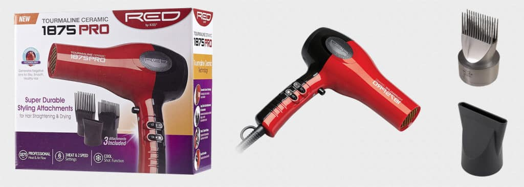 Red by Kiss 1875 Watt Ceramic Tourmaline Dryer