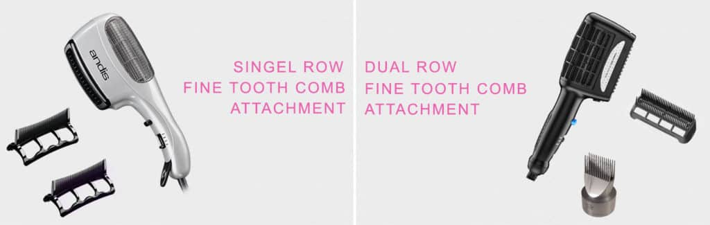 Types Of Fine Tooth Comb Attachment