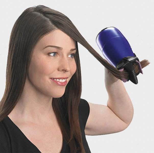 Using Hair Dryer With Comb Attachment Cozily With A Single Hand