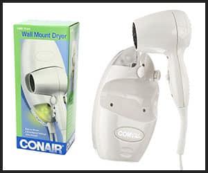 Conair Wall mount 1600 Watt Hair Dryer - V1 Apr