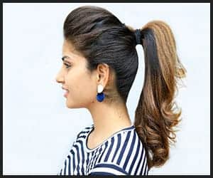 Front Pouf Ponytail