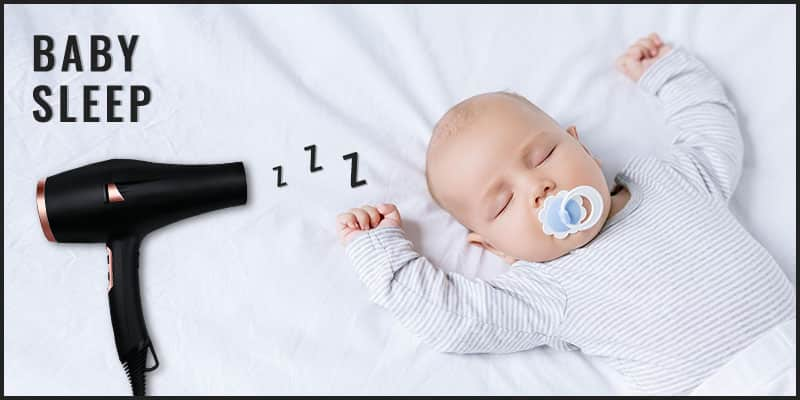 Hair Dryer white noise for babies
