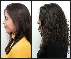 Straight to Wavy Hair