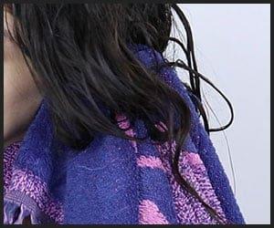 Using Microfiber Hair Towel - V2812191258