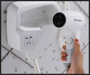 Wall mounted hair dryer lightweight and easy to handle