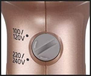 Dual Voltage Hair Dryer Voltage Adjustment