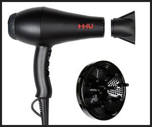 MHU Professional Salon Grade 1875W Low Noise Hair Dryer - Big HD64A1